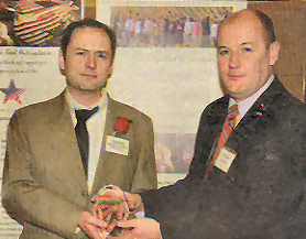 Matt Barker honored at Irish Echo 40 under 40 awards night